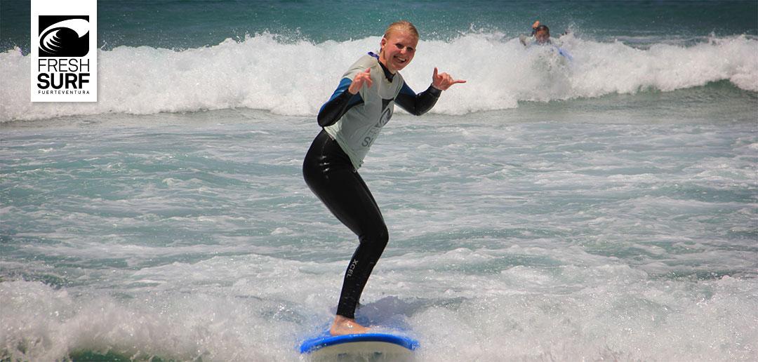 Hang Loose auf dem Surfbrett