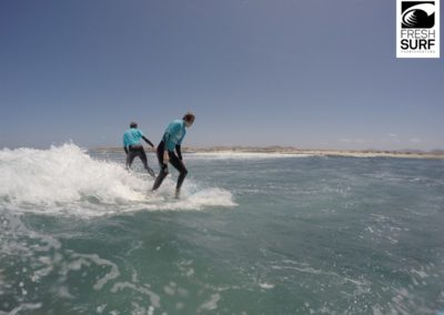 am Wellenreiten