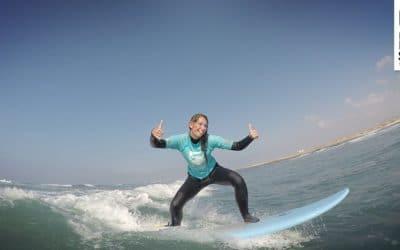 Positionierungstraining in unserem Surfcamp auf Fuerteventura