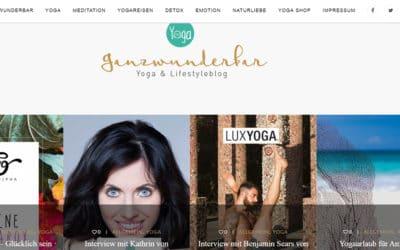 Ganzwunderbare Yogareisen – ein toller Blog über Yoga und Lifestyle
