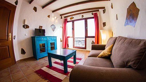 Das gemütliche Wohnzimmer im Casa Checa