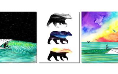 Jonas Claesson aka Jonas Draws' Surf Illustrationen