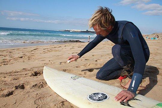 waxing the board