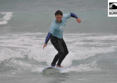 Surfer auf Board