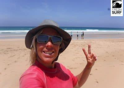 Surflehrer am Strand